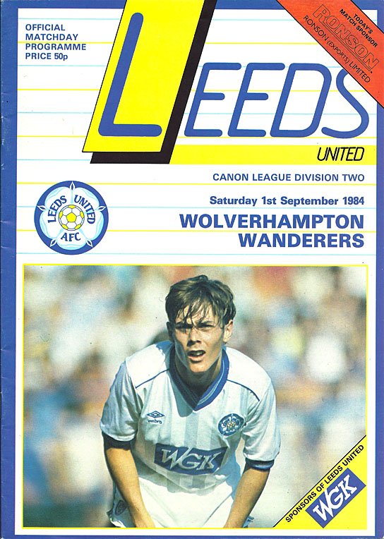 1984 85 wolves football programmes for League two table 1984 85