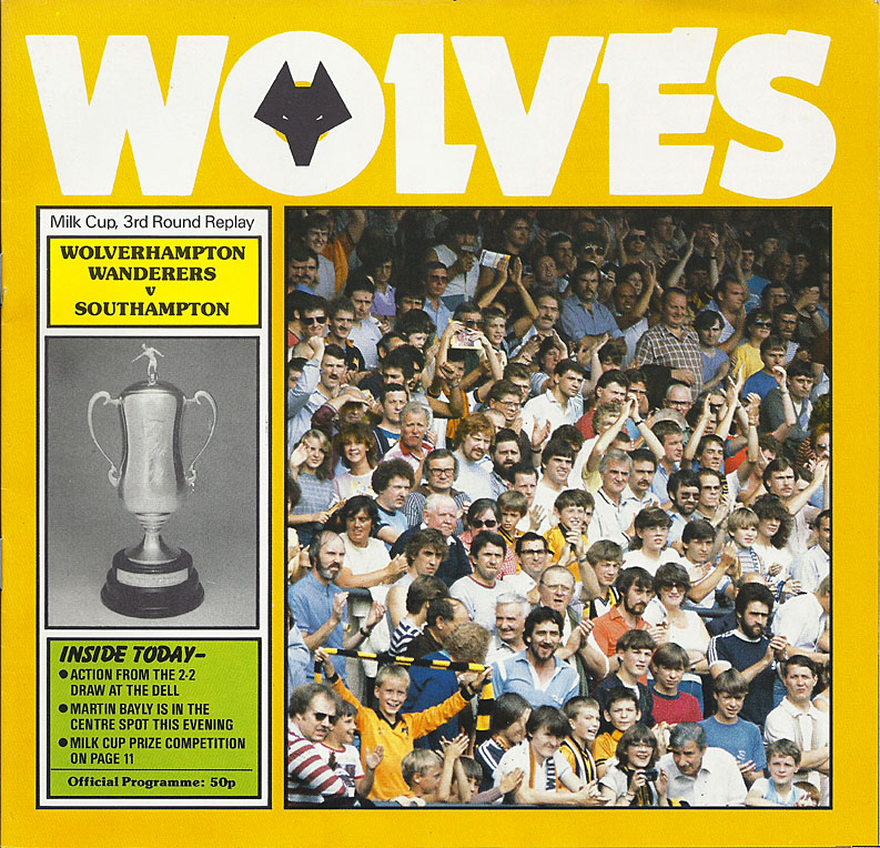 1980s league cup wolves football programmes for League two table 1984 85